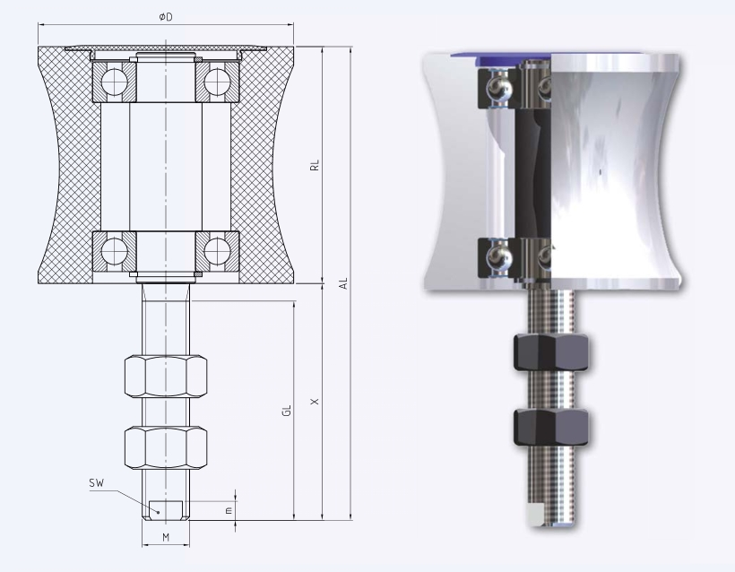 Plastic Side Guide Roller for Conveyors
